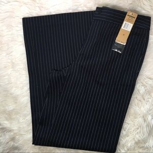 NWT Lauren Jeans co Wide Leg Navy Pinstripe Pants